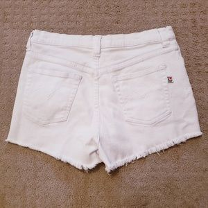 MINKPINK Shorts - Mink Pink white distressed shorts size L.